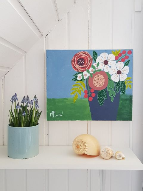 Bouquet on wood #011